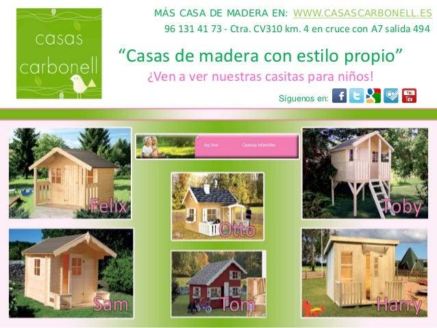 Compra de casas de madera para ni os en zaragoza huesca y - Casas de madera zaragoza ...