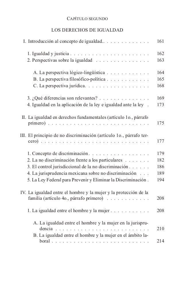 CAPÍTULO SEGUNDO LOS DERECHOS DE IGUALDAD I. Introducción al concepto de igualdad.. . . . . . . . . . . . . 161 1. Igualda...