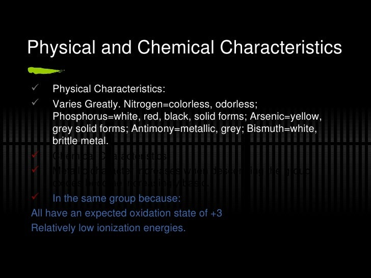 Physical And Chemical Properties Of Nitrogen And Phosphorus