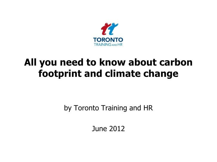 Carbon footprint and climate change June 2012
