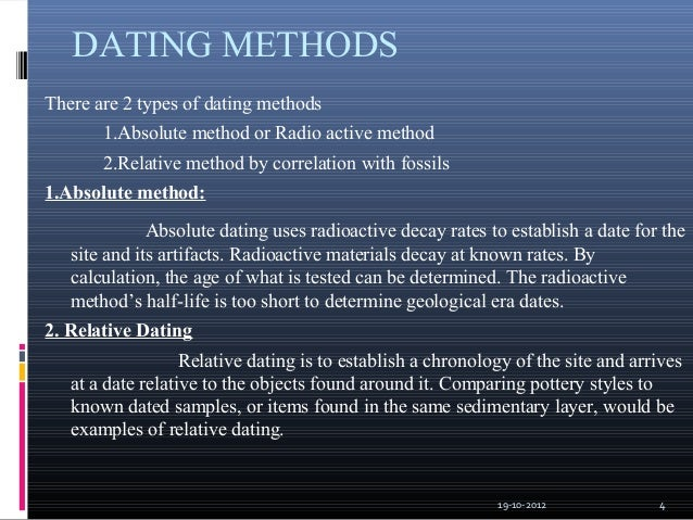 fossils dating methods