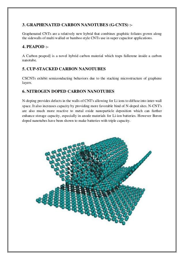 Seminar Report On Carbon Nanotubes