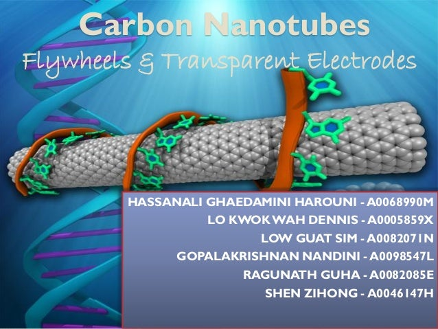 Carbon Nanotubes Flywheels & Transparent Electrodes  HASSANALI GHAEDAMINI HAROUNI - A0068990M LO KWOK WAH DENNIS - A000585...