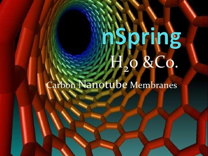 nSpring<br />H20 &Co.<br />Carbon Nanotube Membranes<br />
