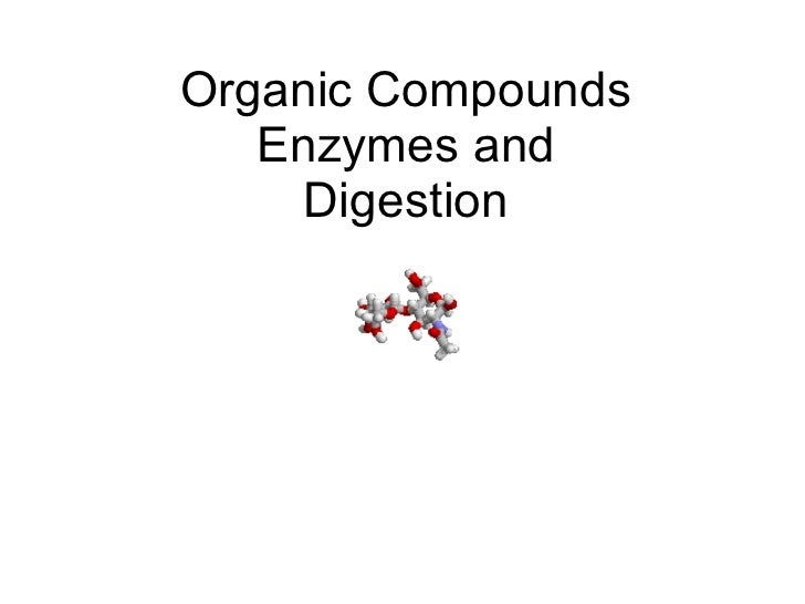 Organic Compounds Enzymes and Digestion