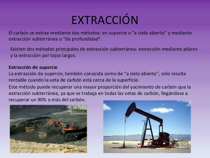 Carbon y petroleo for Como se extrae el marmol
