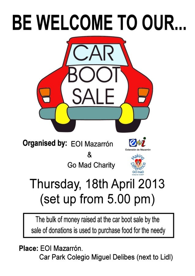 Car boot sale a4