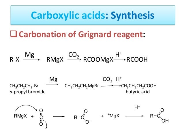 grignard synthesis of benzoic acid If acid is not present, the first step is the reaction of the nucleophile with the lets see how the addition of a grignard reagent can be used in synthesis.