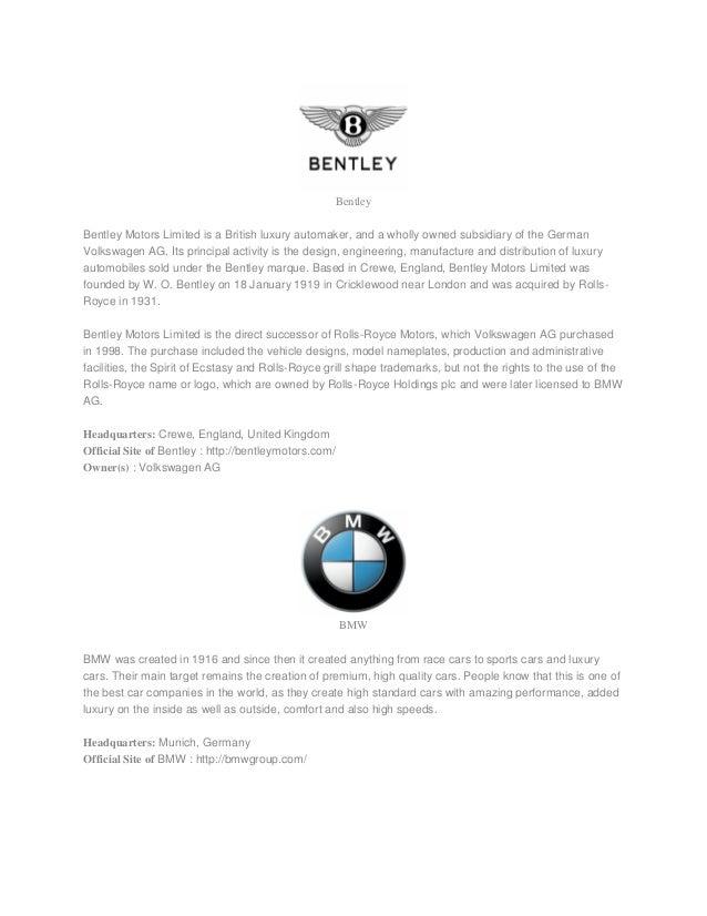 Car Brands List