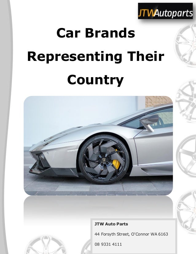 Car Brands Representing Their Country