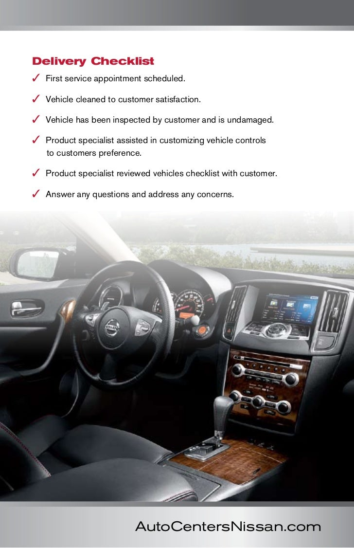 car buying booklet- autocenters nissan- wood river, il