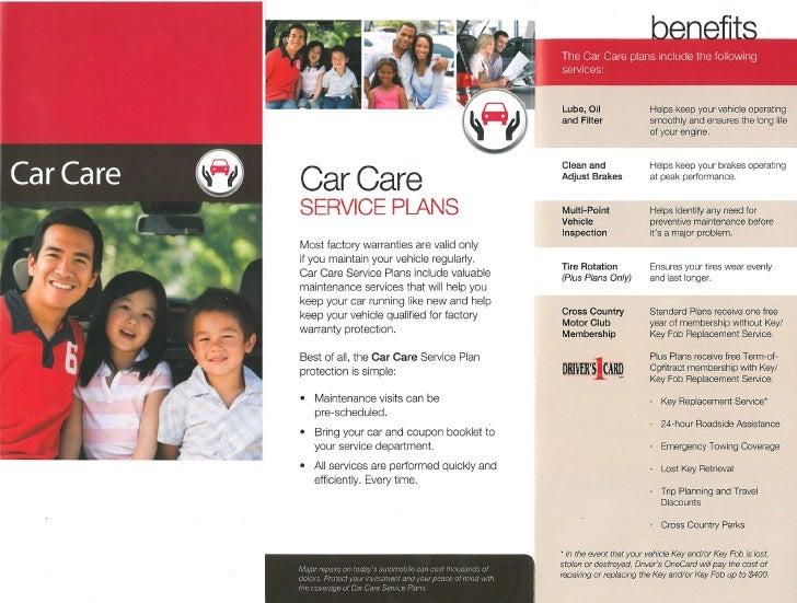 Car Care Service Plans