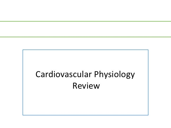 Cardiovascular Physiology         Review