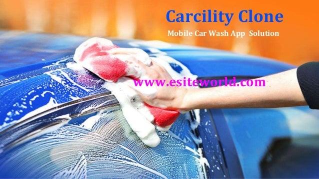 Carcility Clone Mobile Car Wash App Solution www.esiteworld.com
