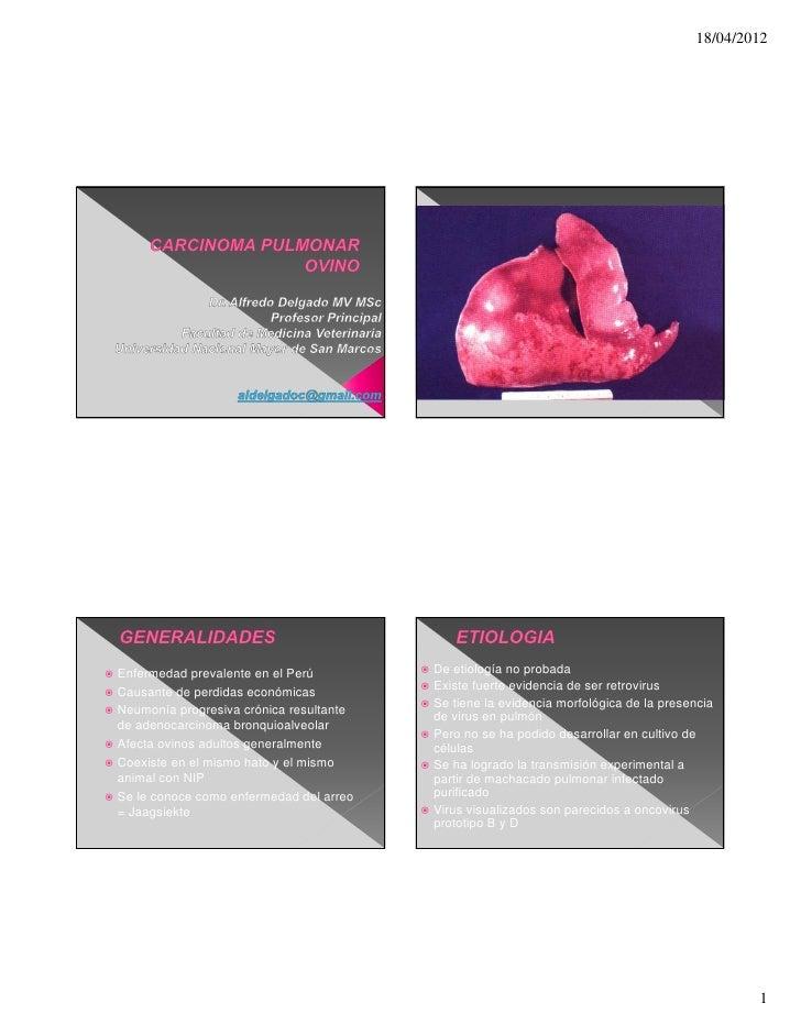 18/04/2012 Enfermedad prevalente en el Perú          De etiología no probada Causante de perdidas económicas           ...