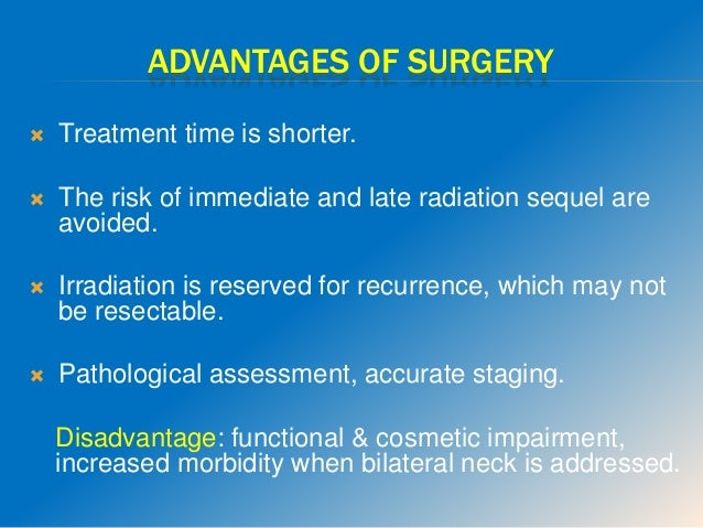  Modified neck dissection is sufficient treatment for the ipsilateral neck for patients with N1 without PNE.  Radiation ...