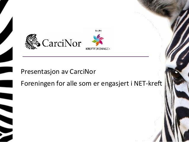 PresentasjonavCarciNor ForeningenforallesomerengasjertiNET-kre9