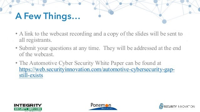 Car Cybersecurity: The Gap Still Exists Slide 3