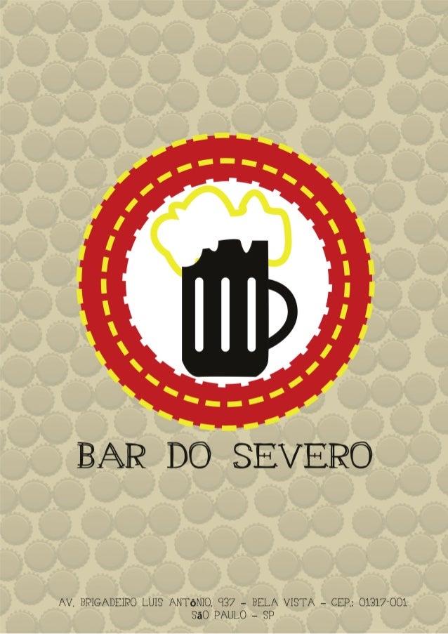 Cardápio Bar do Severo