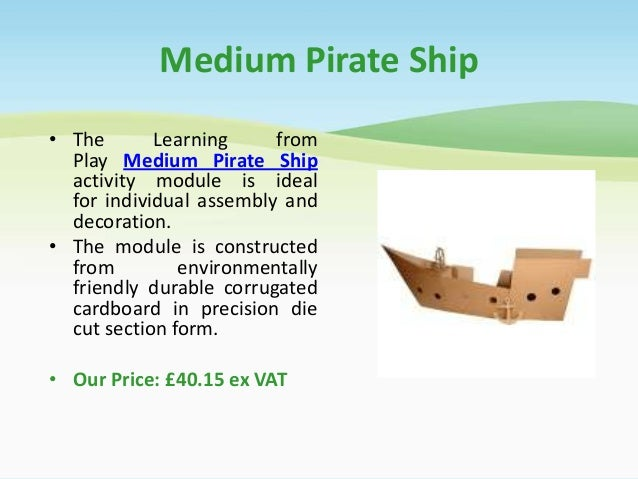 Cardboard pirate ship for Large cardboard cut out numbers