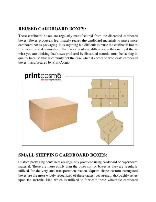 Variety of Cardboard Boxes and Perks of Recycling Custom Boxes