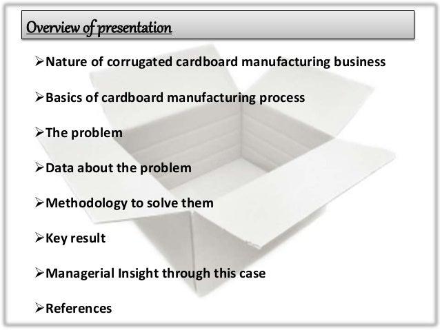 SCM case study: Cardboard mfg units