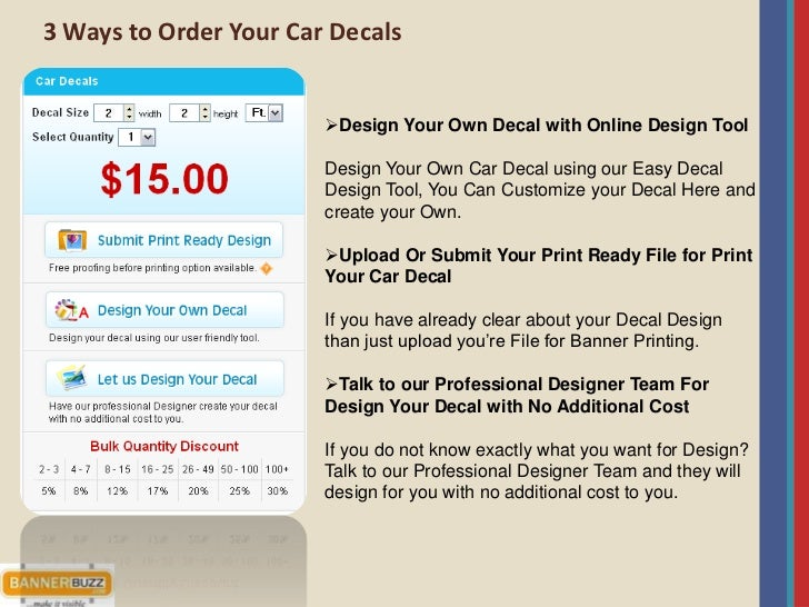 Car Decals Fulfills Advertising And Personalization Requirement For Y - Create car decals online