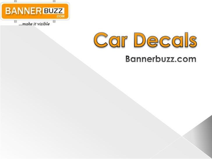 Car Decals<br />Bannerbuzz.com<br />