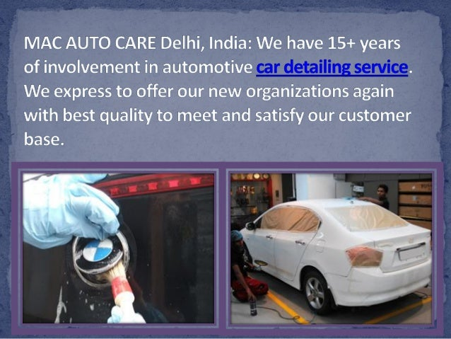 Car Detailing Service With Interior And Exterior Detailing