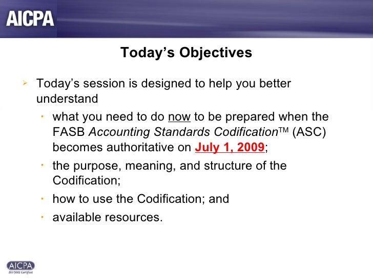AICPA Presentation on GAAP Codification Slide 2