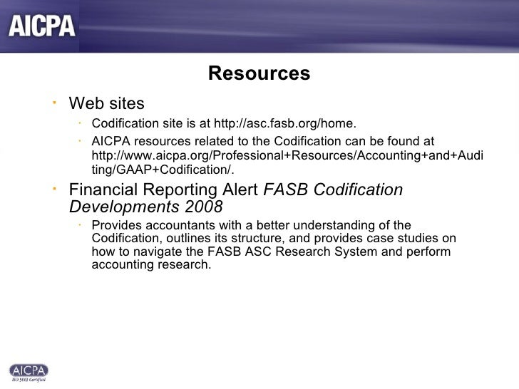 professional research fasb codification View homework help - assignment 1 professional research from acc 4013 at  alamoedu professional research: fasb codification name: heejin kwon.