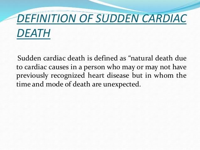 Cardiac arrest and sudden cardiac