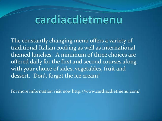 The constantly changing menu offers a variety of traditional Italian cooking as well as international themed lunches. A mi...
