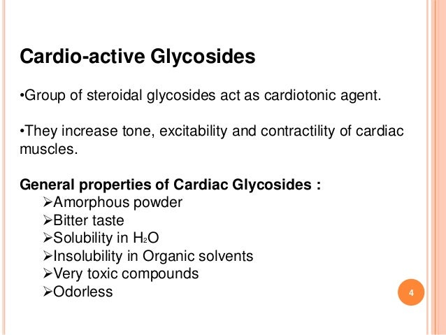 Cardiac glycosides. What is it