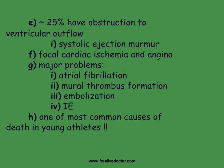 Cardiac myopathies tumors for Cardiac mural thrombus