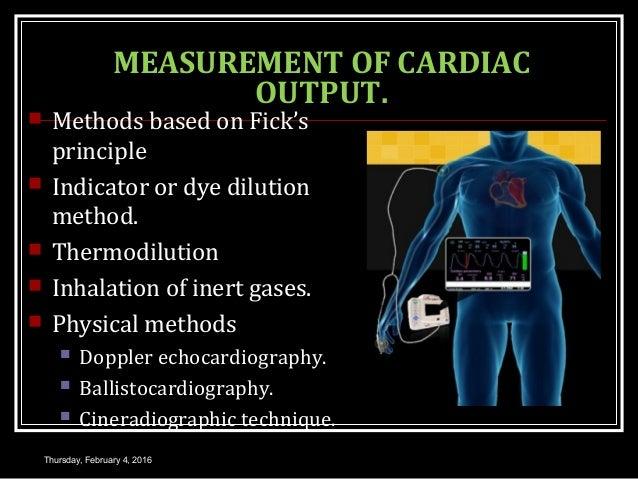 Cardiac output 1.
