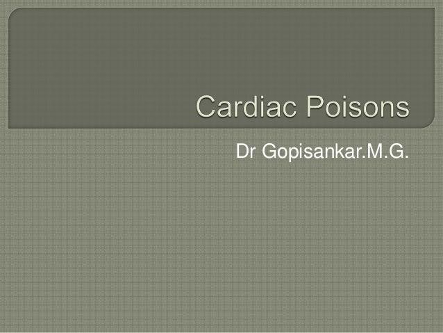 Dr Gopisankar.M.G.
