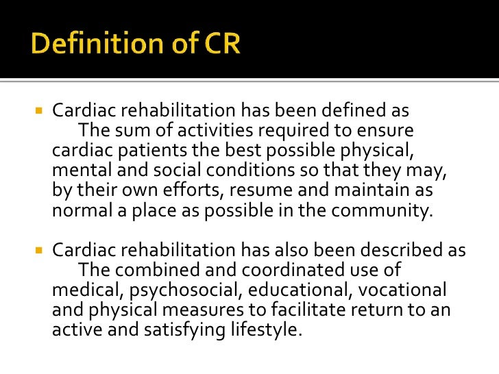 Cardiac rehabilitation past, present and future: an overview