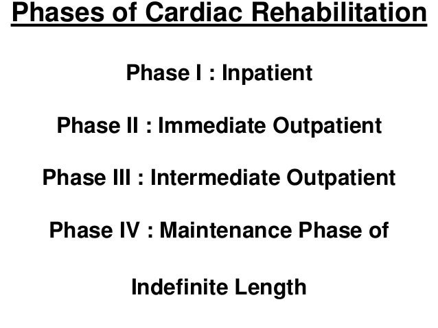 effectiveness of phase ii cardiac rehabilitation The purpose of this study was to explore the effectiveness of a cardiac rehabilitation program (phase ii) in improving participants' quality of life (qol.