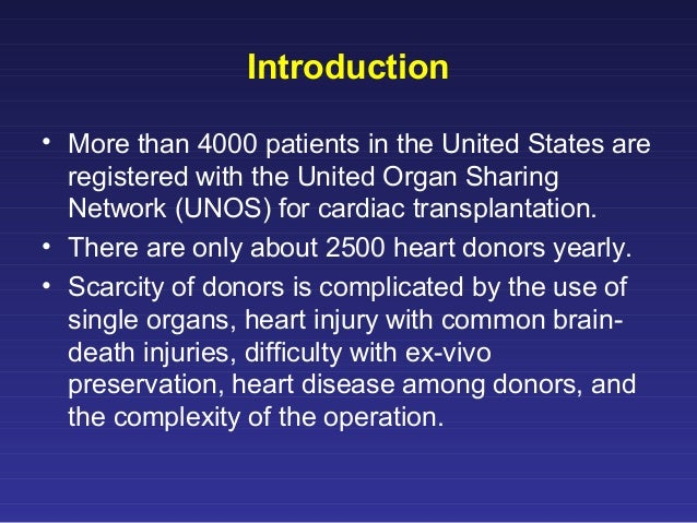 an introduction to the united network for organ sharing onos The dataset that is commonly referred to as the united network for organ sharing (unos) database consists of information collected by unos and maintained and analyzed by the scientific registry of transplant recipients (srtr.