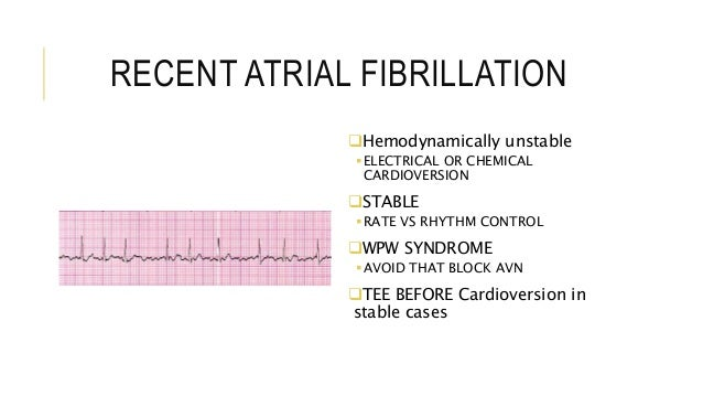Electrical Vs Chemical Cardioversion