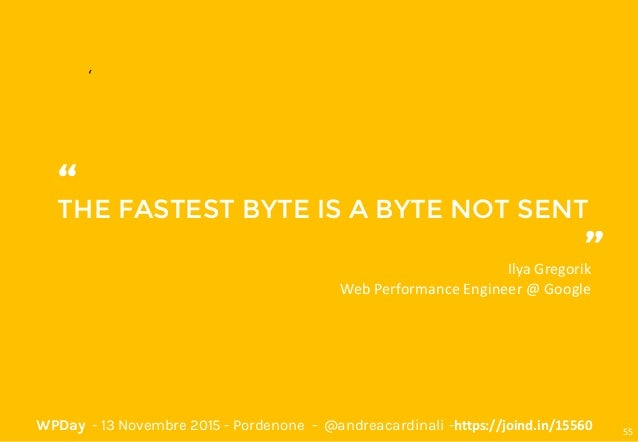 WPDay 2015 - WordPress Performance Optimization - Pordenone - 13 Nove… slideshare - 웹