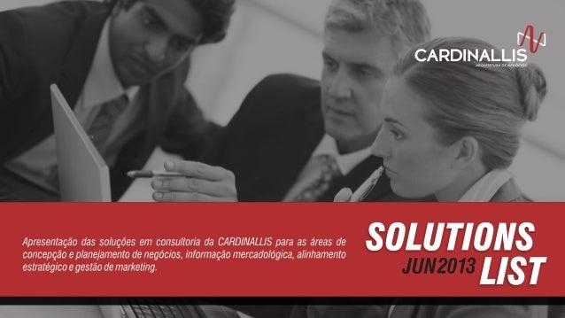 Cardinallis - Lista de Soluções - 2013-06