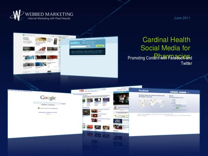 Cardinal Health Social Media for Pharmacies<br />June 2011<br />Promoting Content with Facebook and Twitter<br />
