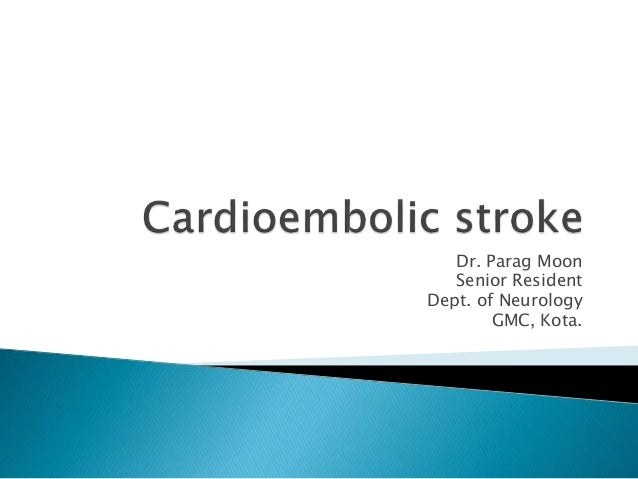 what is an embolic stroke pdf