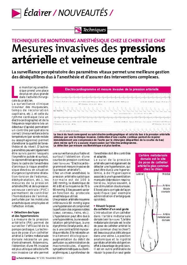 Cardiologie mesures invasives des pressions artérielle et..