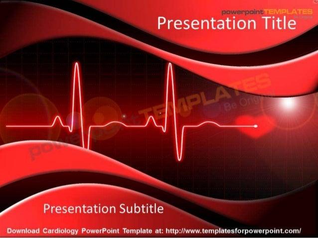Cardiology powerpoint template   templatesforpowerpoint.com