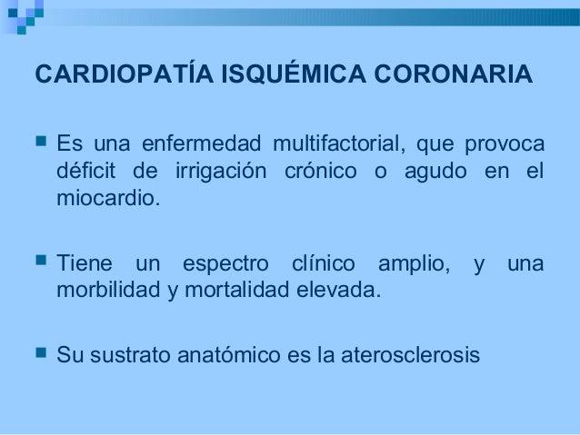 Cardiopatía Isquemica e Infarto Agudo de Miocardio