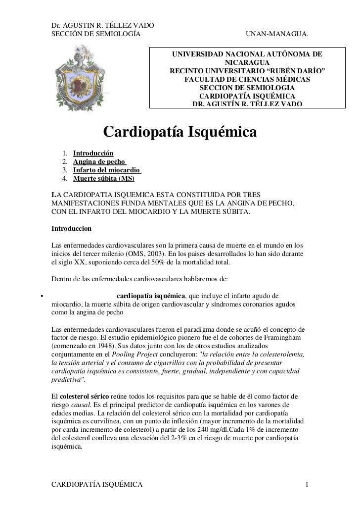 Dr. AGUSTIN R. TÉLLEZ VADO    SECCIÓN DE SEMIOLOGÍA                                              UNAN-MANAGUA.            ...