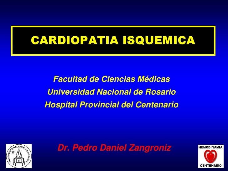 Cardiopatia isquemica alumnos 2009